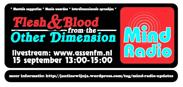 Mind Radio RADIO! sticker designed by Tup Wanders and Alicia Ziff.