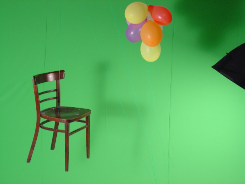 Constant Dullaarts greenscreen studio. RE_constructing, 2008.